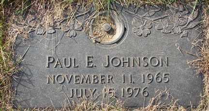 JOHNSON, PAUL E. - Minnehaha County, South Dakota | PAUL E. JOHNSON - South Dakota Gravestone Photos