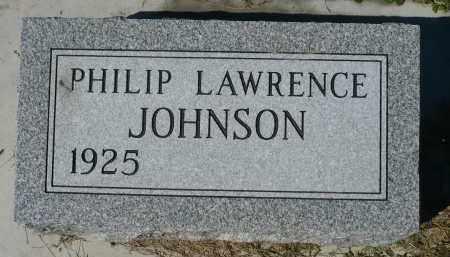 JOHNSON, PHILIP LAWRENCE - Minnehaha County, South Dakota | PHILIP LAWRENCE JOHNSON - South Dakota Gravestone Photos