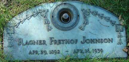 JOHNSON, RAGNER FRETHOF - Minnehaha County, South Dakota | RAGNER FRETHOF JOHNSON - South Dakota Gravestone Photos