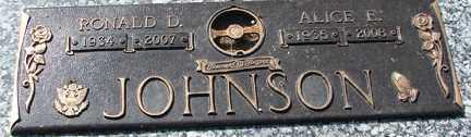 JOHNSON, RONALD DEAN - Minnehaha County, South Dakota | RONALD DEAN JOHNSON - South Dakota Gravestone Photos