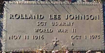 JOHNSON, ROLLAND LEE - Minnehaha County, South Dakota   ROLLAND LEE JOHNSON - South Dakota Gravestone Photos