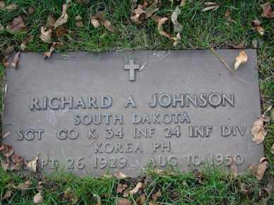 JOHNSON, RICHARD A. - Minnehaha County, South Dakota | RICHARD A. JOHNSON - South Dakota Gravestone Photos