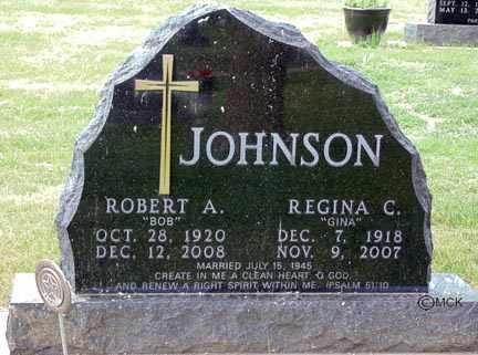 JOHNSON, ROBERT A. - Minnehaha County, South Dakota   ROBERT A. JOHNSON - South Dakota Gravestone Photos