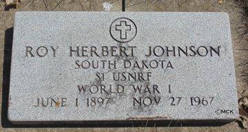 JOHNSON, ROY HERBERT - Minnehaha County, South Dakota | ROY HERBERT JOHNSON - South Dakota Gravestone Photos