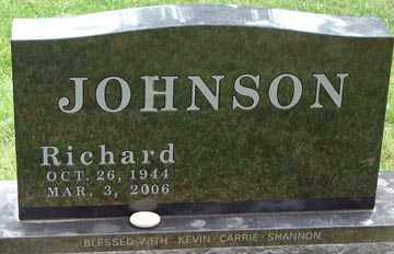 JOHNSON, RICHARD - Minnehaha County, South Dakota | RICHARD JOHNSON - South Dakota Gravestone Photos