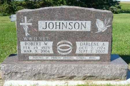 JOHNSON, ROBERT W. - Minnehaha County, South Dakota | ROBERT W. JOHNSON - South Dakota Gravestone Photos
