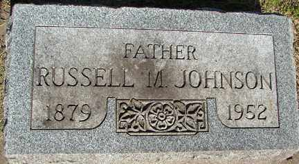 JOHNSON, RUSSELL M. - Minnehaha County, South Dakota | RUSSELL M. JOHNSON - South Dakota Gravestone Photos