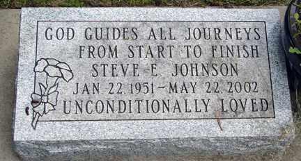 JOHNSON, STEVE E. - Minnehaha County, South Dakota | STEVE E. JOHNSON - South Dakota Gravestone Photos