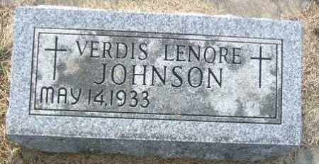 JOHNSON, VERDIS LENORE - Minnehaha County, South Dakota | VERDIS LENORE JOHNSON - South Dakota Gravestone Photos