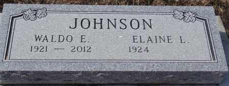 JOHNSON, WALDO E. - Minnehaha County, South Dakota   WALDO E. JOHNSON - South Dakota Gravestone Photos