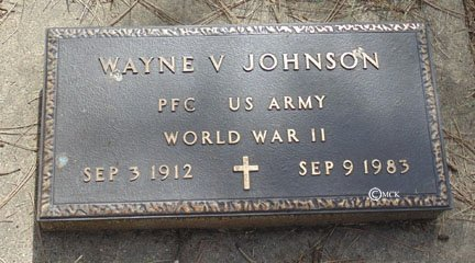 JOHNSON, WAYNE V. - Minnehaha County, South Dakota   WAYNE V. JOHNSON - South Dakota Gravestone Photos