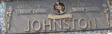 JOHNSTON, CHARLEY E. SR - Minnehaha County, South Dakota | CHARLEY E. SR JOHNSTON - South Dakota Gravestone Photos