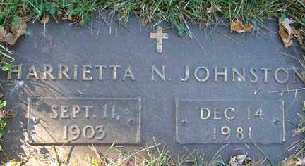 JOHNSTON, HARRIETTA N. - Minnehaha County, South Dakota | HARRIETTA N. JOHNSTON - South Dakota Gravestone Photos