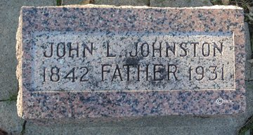 JOHNSTON, JOHN L. - Minnehaha County, South Dakota   JOHN L. JOHNSTON - South Dakota Gravestone Photos