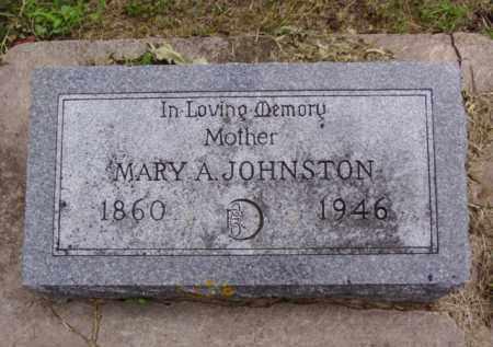 JOHNSTON, MARY A. - Minnehaha County, South Dakota | MARY A. JOHNSTON - South Dakota Gravestone Photos