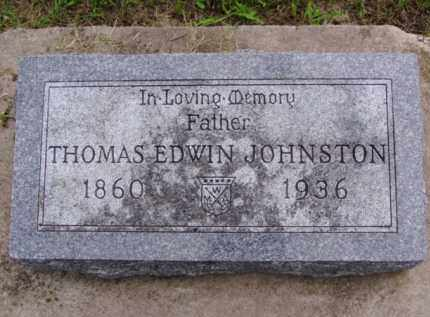 JOHNSTON, THOMAS EDWIN - Minnehaha County, South Dakota   THOMAS EDWIN JOHNSTON - South Dakota Gravestone Photos