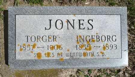 JONES, INGEBORG - Minnehaha County, South Dakota | INGEBORG JONES - South Dakota Gravestone Photos
