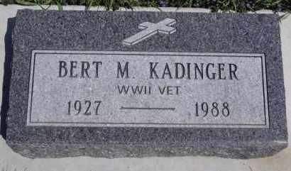 KADINGER, BERT M - Minnehaha County, South Dakota | BERT M KADINGER - South Dakota Gravestone Photos