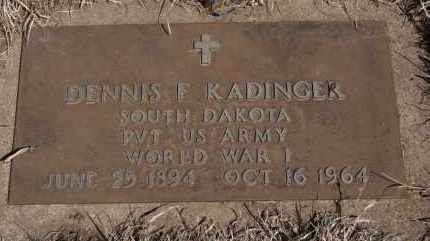 KADINGER, DENNIS F - Minnehaha County, South Dakota | DENNIS F KADINGER - South Dakota Gravestone Photos