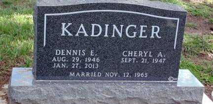 KADINGER, CHERYL A. - Minnehaha County, South Dakota | CHERYL A. KADINGER - South Dakota Gravestone Photos