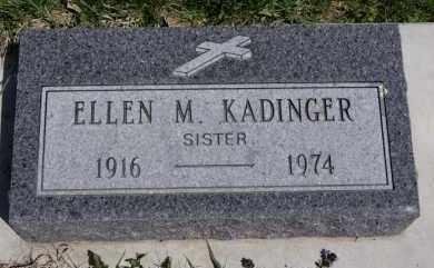 KADINGER, ELLEN M - Minnehaha County, South Dakota   ELLEN M KADINGER - South Dakota Gravestone Photos