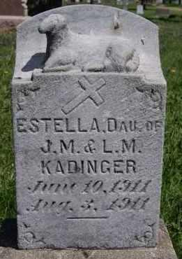 KADINGER, ESTELLA - Minnehaha County, South Dakota | ESTELLA KADINGER - South Dakota Gravestone Photos