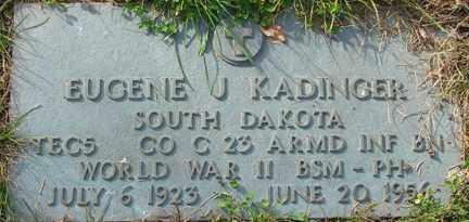 KADINGER, EUGENE J. - Minnehaha County, South Dakota | EUGENE J. KADINGER - South Dakota Gravestone Photos