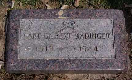 KADINGER, GILBERT - Minnehaha County, South Dakota | GILBERT KADINGER - South Dakota Gravestone Photos