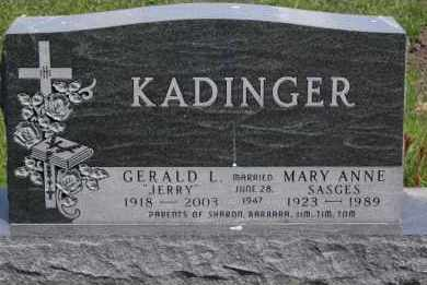 KADINGER, MARY ANNE - Minnehaha County, South Dakota | MARY ANNE KADINGER - South Dakota Gravestone Photos