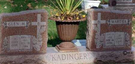 KADINGER, GLEN H. - Minnehaha County, South Dakota | GLEN H. KADINGER - South Dakota Gravestone Photos