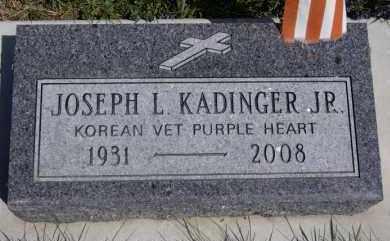 KADINGER, JOSEPH L JR - Minnehaha County, South Dakota   JOSEPH L JR KADINGER - South Dakota Gravestone Photos