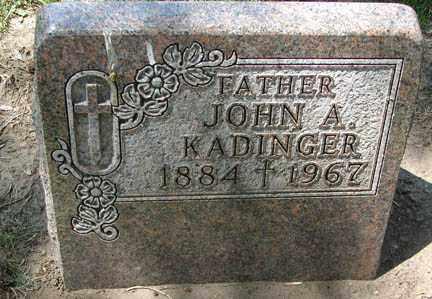 KADINGER, JOHN A. - Minnehaha County, South Dakota | JOHN A. KADINGER - South Dakota Gravestone Photos