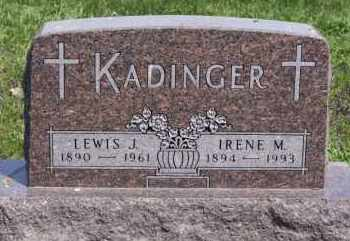 KADINGER, LEWIS J - Minnehaha County, South Dakota | LEWIS J KADINGER - South Dakota Gravestone Photos