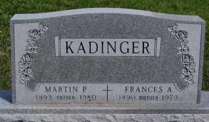 KADINGER, FRANCIS A - Minnehaha County, South Dakota | FRANCIS A KADINGER - South Dakota Gravestone Photos