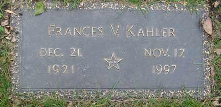 KAHLER, FRANCES V. - Minnehaha County, South Dakota   FRANCES V. KAHLER - South Dakota Gravestone Photos