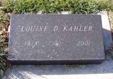 KAHLER, LOUISE D. - Minnehaha County, South Dakota   LOUISE D. KAHLER - South Dakota Gravestone Photos
