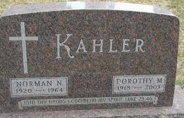 KAHLER, NORMAN N. - Minnehaha County, South Dakota | NORMAN N. KAHLER - South Dakota Gravestone Photos