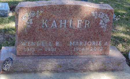 KAHLER, MARJORIE A. - Minnehaha County, South Dakota | MARJORIE A. KAHLER - South Dakota Gravestone Photos