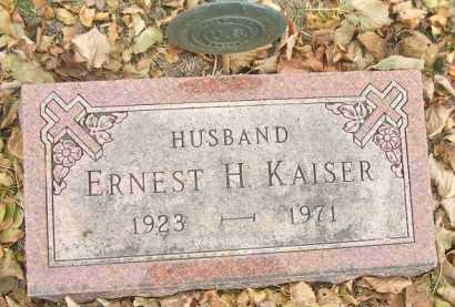 KAISER, ERNEST H. - Minnehaha County, South Dakota | ERNEST H. KAISER - South Dakota Gravestone Photos