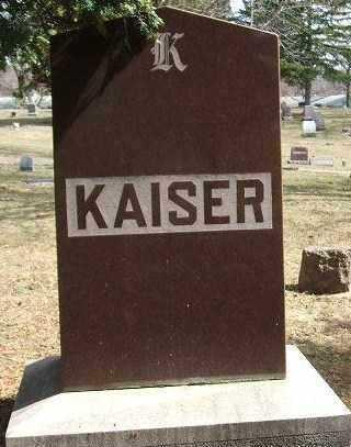 KAISER, FAMILY STONE - Minnehaha County, South Dakota   FAMILY STONE KAISER - South Dakota Gravestone Photos