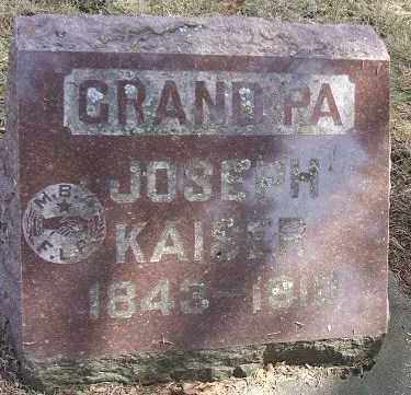 KAISER, JOSEPH - Minnehaha County, South Dakota | JOSEPH KAISER - South Dakota Gravestone Photos