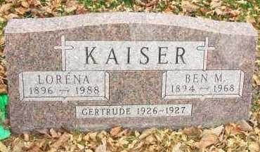 KAISER, GERTRUDE - Minnehaha County, South Dakota | GERTRUDE KAISER - South Dakota Gravestone Photos