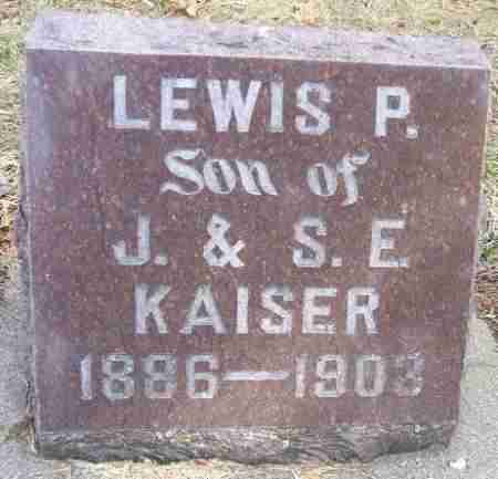 KAISER, LEWIS P. - Minnehaha County, South Dakota | LEWIS P. KAISER - South Dakota Gravestone Photos