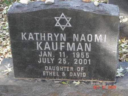KAUFMAN, KATHRYN NAOMI - Minnehaha County, South Dakota   KATHRYN NAOMI KAUFMAN - South Dakota Gravestone Photos