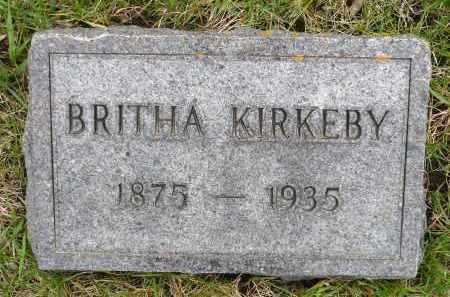 PERSON KIRKEBY, BRITHA JENSDOTTER - Minnehaha County, South Dakota | BRITHA JENSDOTTER PERSON KIRKEBY - South Dakota Gravestone Photos