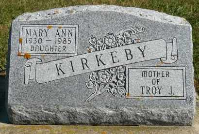 KIRKEBY, MARY ANN - Minnehaha County, South Dakota | MARY ANN KIRKEBY - South Dakota Gravestone Photos