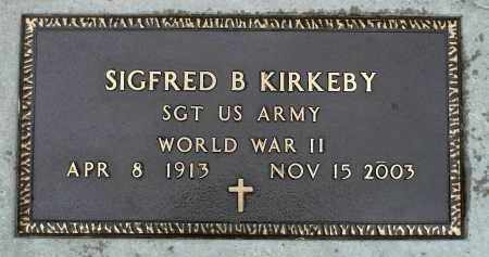 KIRKEBY, SIGFRED B. (WWII) - Minnehaha County, South Dakota | SIGFRED B. (WWII) KIRKEBY - South Dakota Gravestone Photos