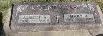 KOENEKAMP, MARY A. - Minnehaha County, South Dakota   MARY A. KOENEKAMP - South Dakota Gravestone Photos