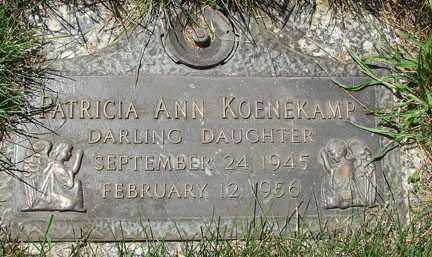 KOENEKAMP, PATRICIA ANN - Minnehaha County, South Dakota | PATRICIA ANN KOENEKAMP - South Dakota Gravestone Photos