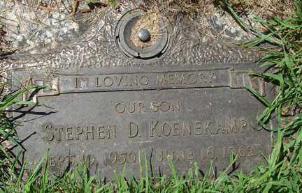 KOENEKAMP, STEPHEN D. - Minnehaha County, South Dakota | STEPHEN D. KOENEKAMP - South Dakota Gravestone Photos